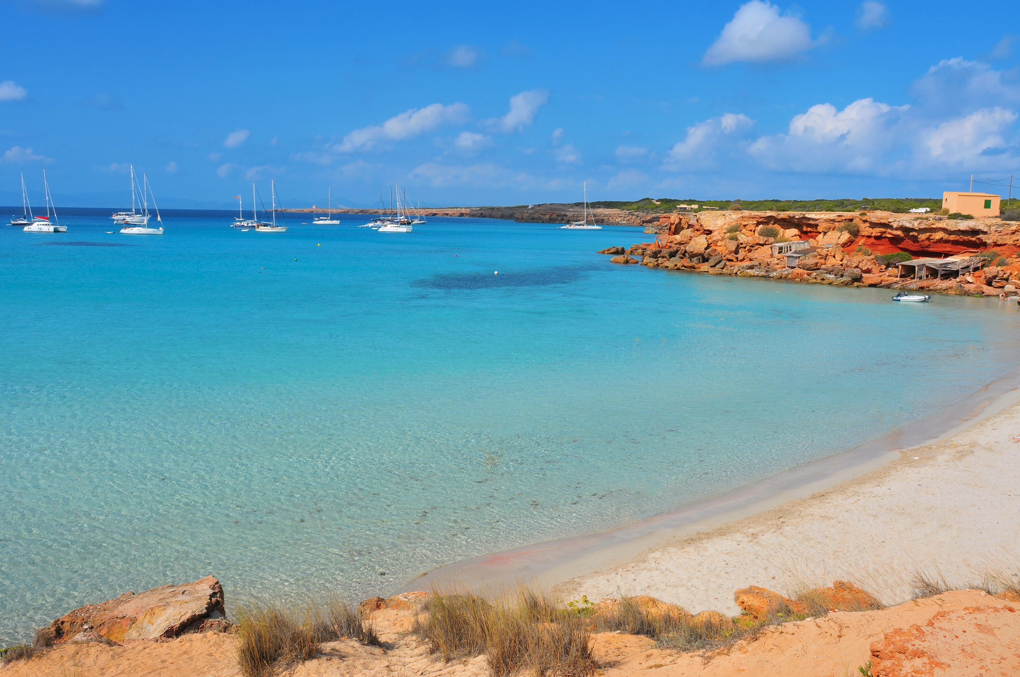 Cala Saona Beach in Formentera, Balearic Islands, Spain